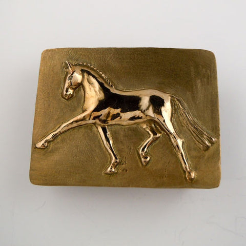 Extended Trot Dressage Belt Buckle