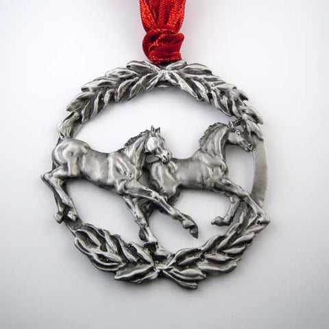 Frolicking Foals Ornament