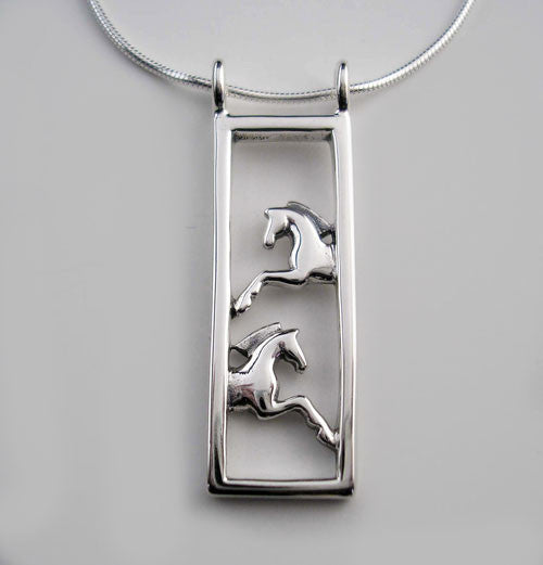 Framed Pair of Horses Necklace