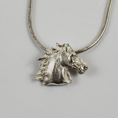 West Coast Jewelry Sterling Silver Antiqued /& Textured Horse Pendant