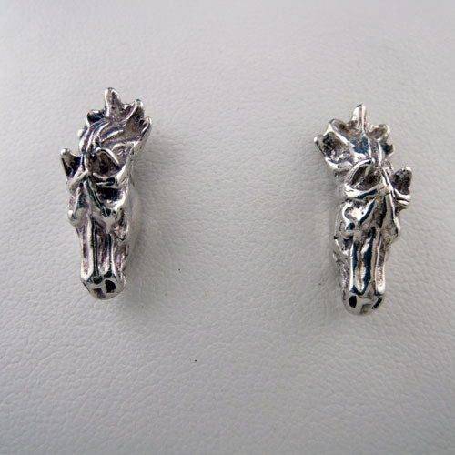 Solid Horse Head Post Earrings
