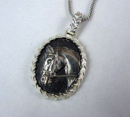 Abbey Pendant with Laced Rein Surround