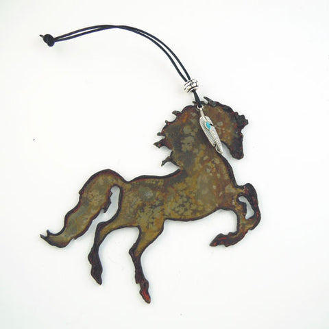 Rearing Horse Ornament