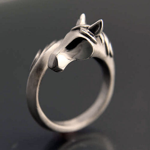 Sterling Silver Horse And Tail Ring To Wrap Around Your