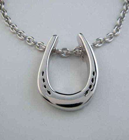 Charles Horseshoe Necklace Sterling Silver