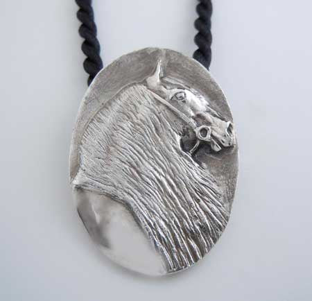 Friesian Horse Pendant Necklace