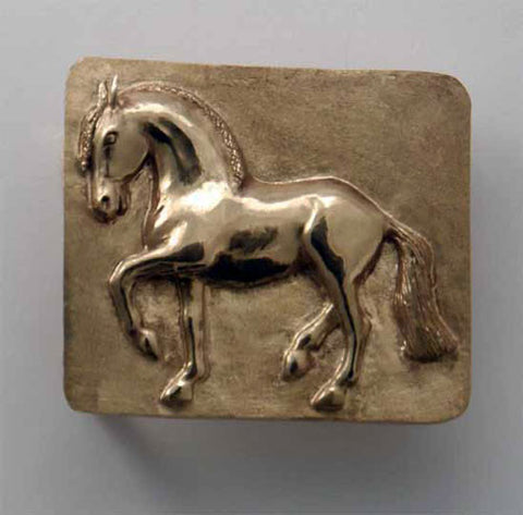 Baroque Dressage Piaffe Belt Buckle
