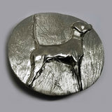 Pointer Hunting Dog Belt Buckle Bronze