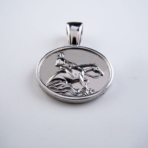 Reining Horse Pendant Necklace