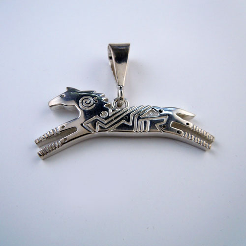 Spirit Running Horse Pendant Necklace