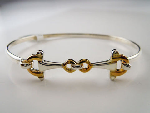 Snaffle Horse Bit Bangle Bracelet