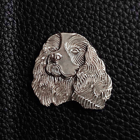 Cavalier King Charles Spaniel Pendant Necklace Sterling Silver