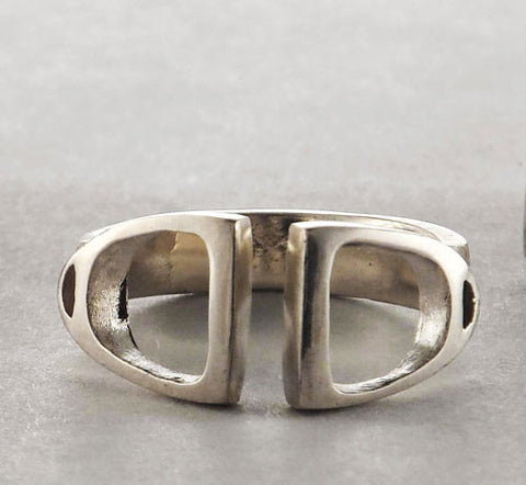 .Double English Stirrup Ring