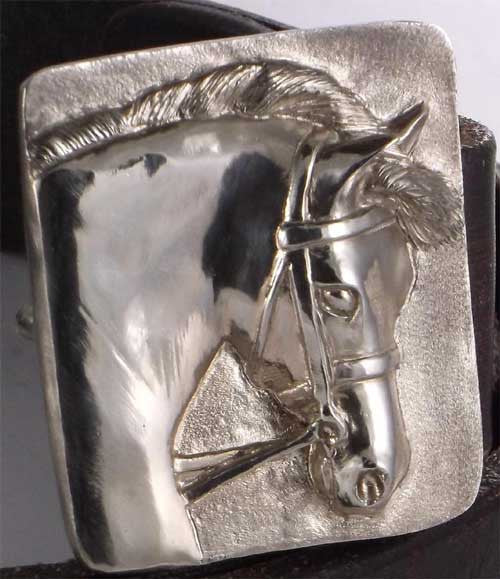 Welsh Pony's Head Belt Buckle