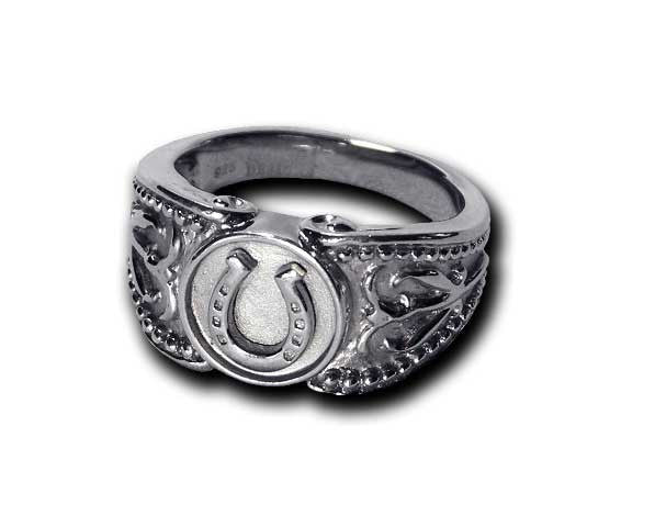 Western Styled Horseshoe Ring