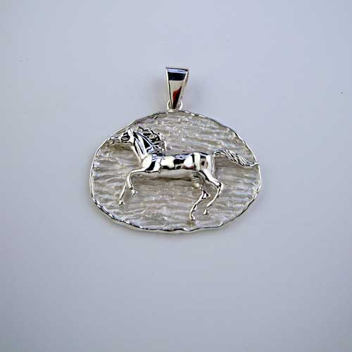 Wildfire Horse Pendant Necklace