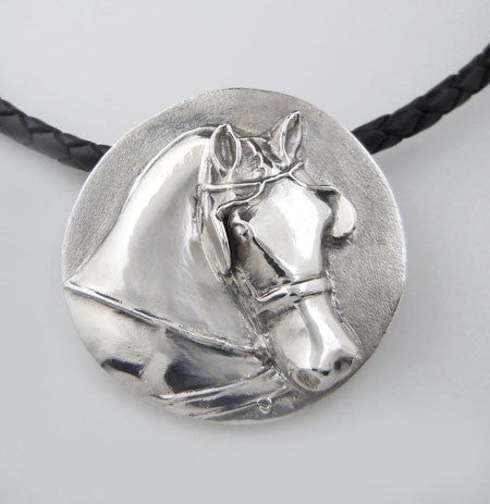 Carriage Driving Horse Pendant In Sterling Sivler Jamies