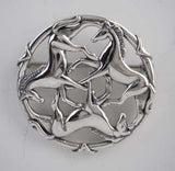 Celtic Horse Pin Sterling Silver