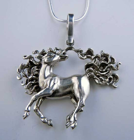 Dancing Horse Pendant Necklace