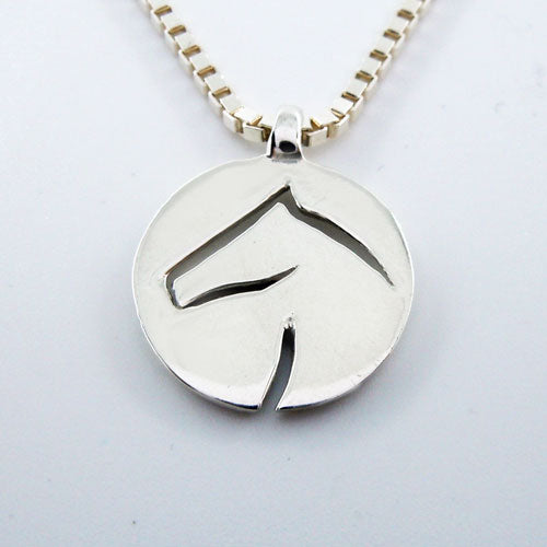 Jackson Horse Head Pendant Necklace Contemporary Design