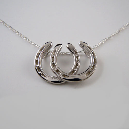 Side by Side Horseshoe Necklace