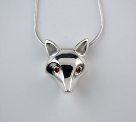 Fox Mask Pendant Necklace