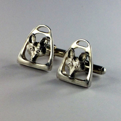 Fox and English Stirrup Cufflinks