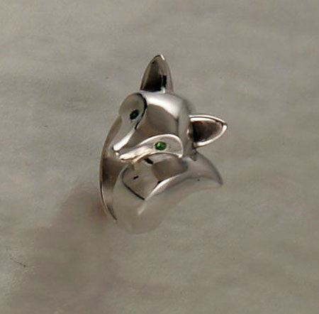 Sterling Silver Fox Ring High Polish Finish