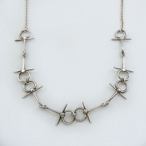 Full Cheek Snaffle Horse Bit Necklace Sterling Silver