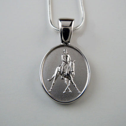 Half Pass Dressage Pendant Necklace