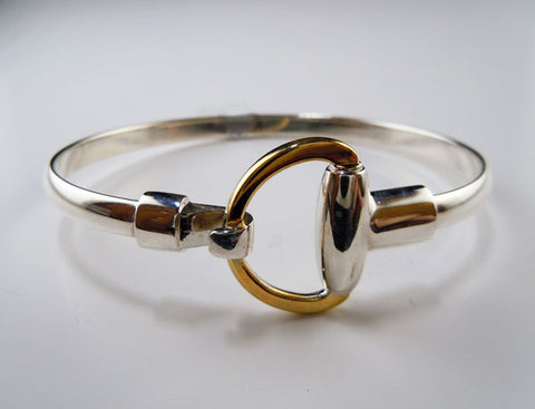 Half Snaffle Bit Bangle Bracelet