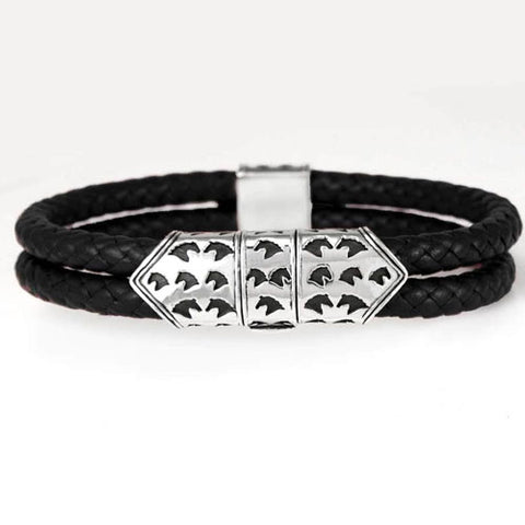 Braided Leather Bracelet with Sterling Silver Horse Head Clasp