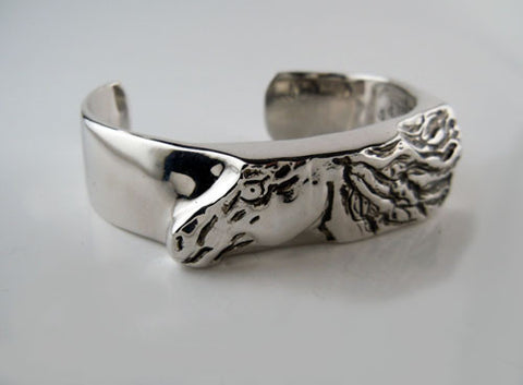 Horse Head with Flowing Mane Cuff Bracelet