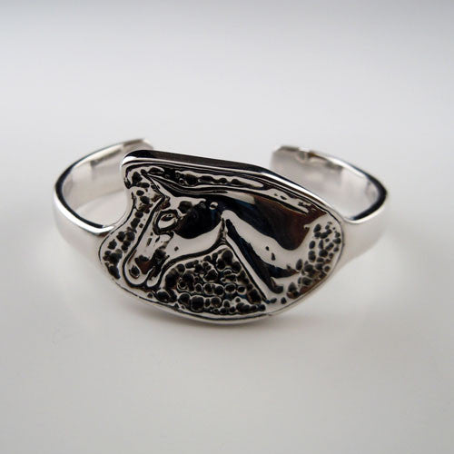 Light Hearted Horse Head Cuff Bracelet