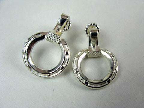 .Horseshoe Earrings with Nail Sterling Silver