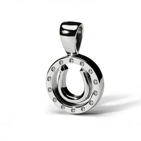 Encircled Horseshoe Pendant Necklace