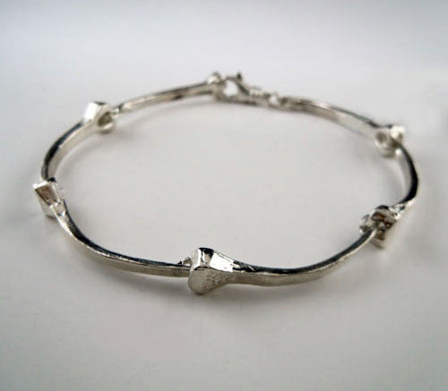 Horseshoe Nail Bracelet in Sterling Silver