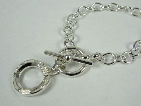 Horseshoe Toggle Bracelet Sterling Silver