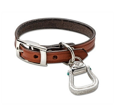 .Western Stirrup Leather Bracelet