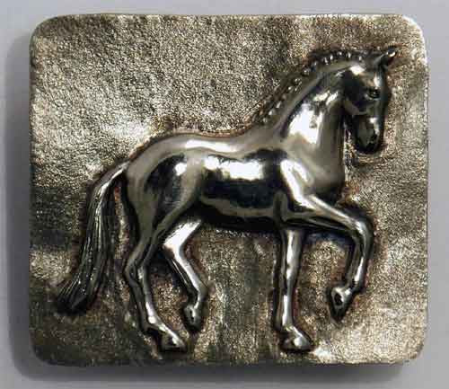 .Classic Dressage Piaffe Belt Buckle