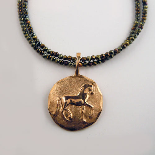 Piaffe Dressage Horse Pendant Necklace