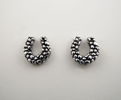 Patterned Horseshoe Stud Earrings