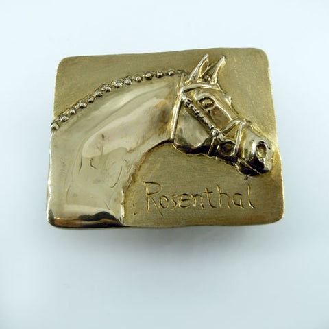 Rosenthal Horse Head Belt Buckle