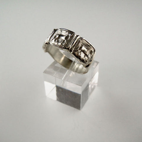 Piaffe Dressage Horse Wedding Band Ring