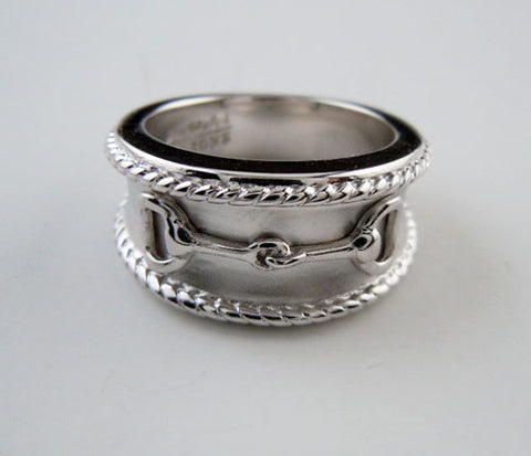 Snaffle Bit Ring Sterling Silver