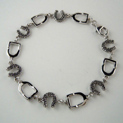 Stirrup and Horseshoe Bracelet