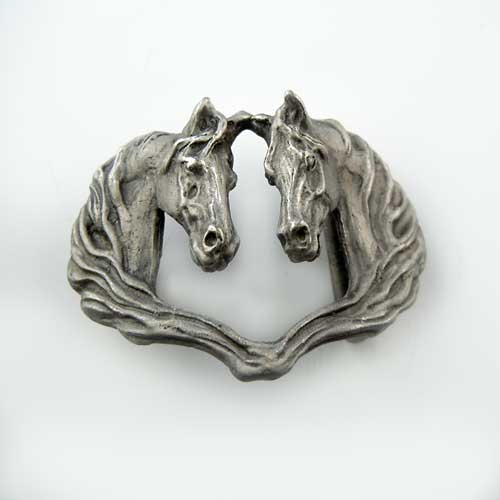 Fred and Ginger Horse Head Belt Buckle