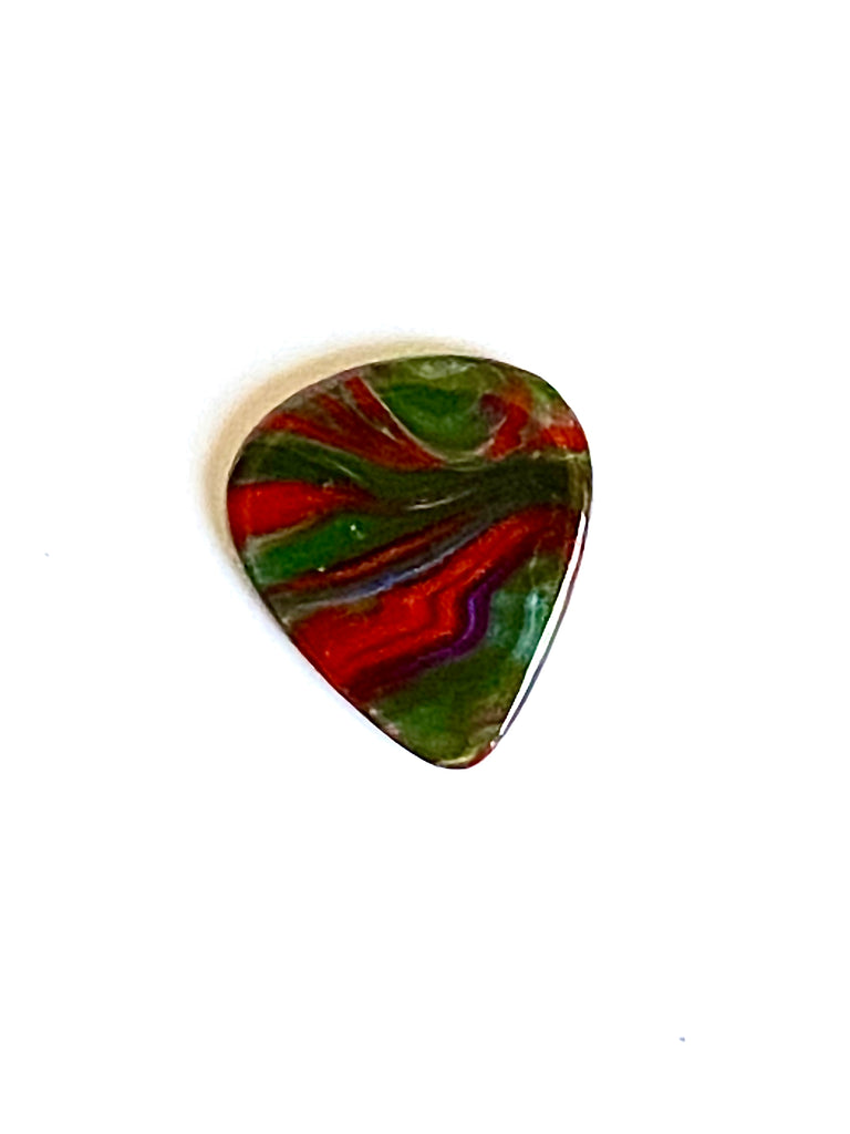 "Glass Guitar Pick - ""Earth, Wind, and Fire"""