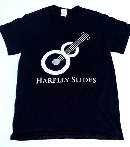 T-Shirt - Harpley Slides - black with white