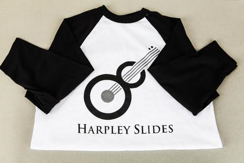 Baseball T-Shirt - Harpley Slides - White/Black